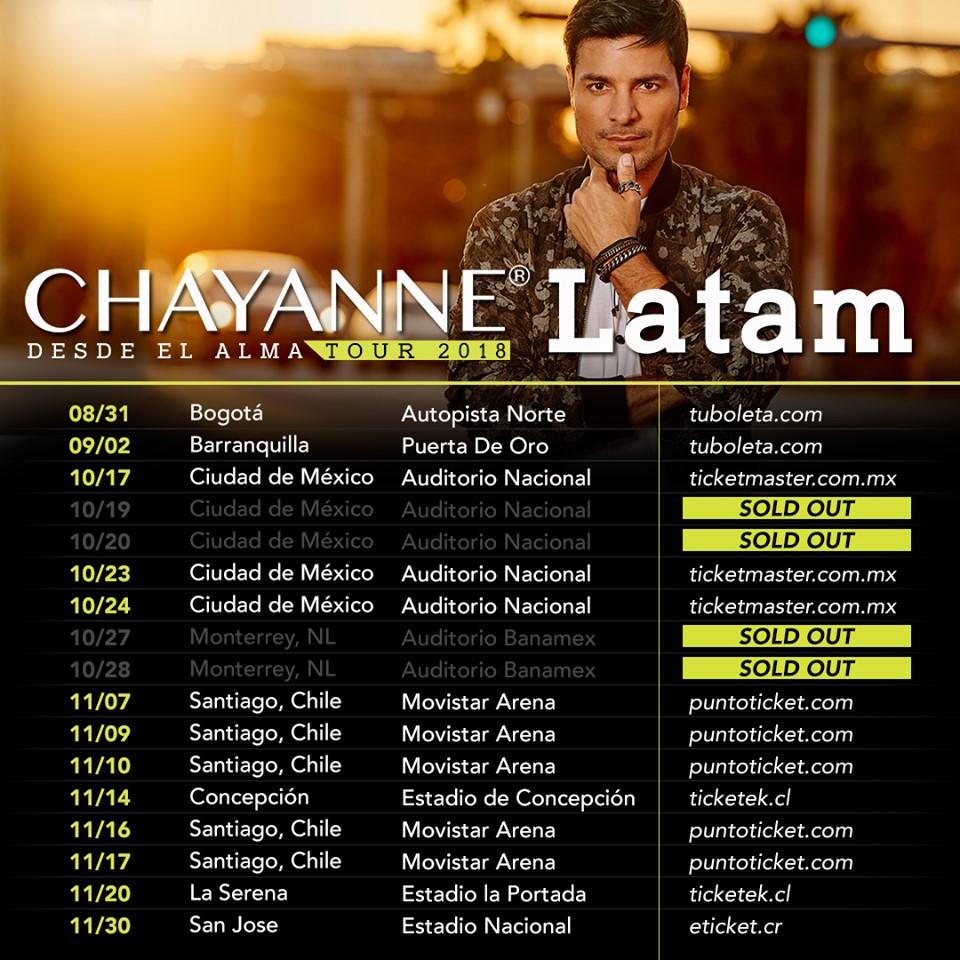 Chayanne arrancó la Gira «Desde el Alma» en Estados Unidos