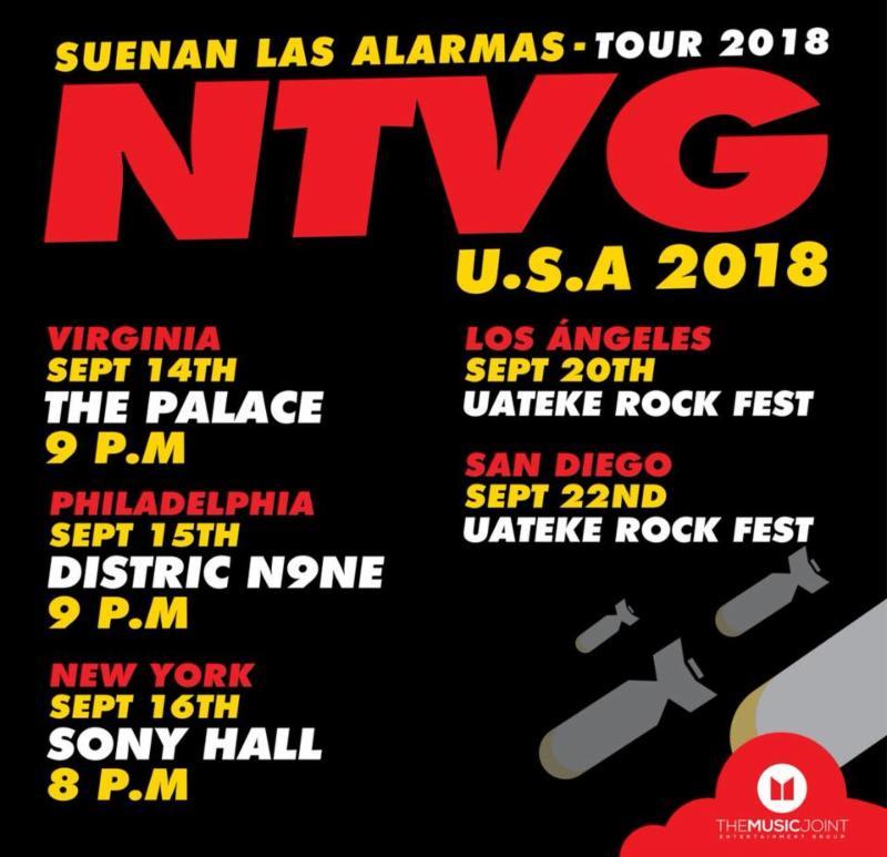 NTVG se presentara en el Uateke Rock Fest 2018
