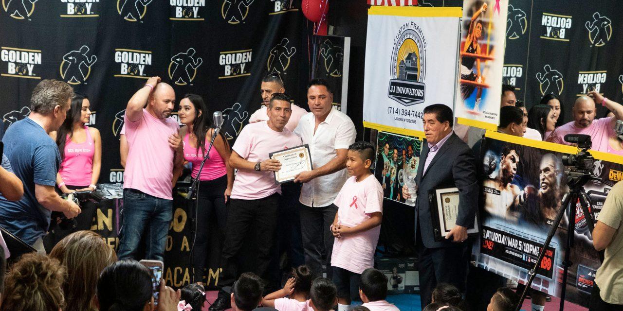 Oscar de la Hoya brinda un 'K.O.' de alegría