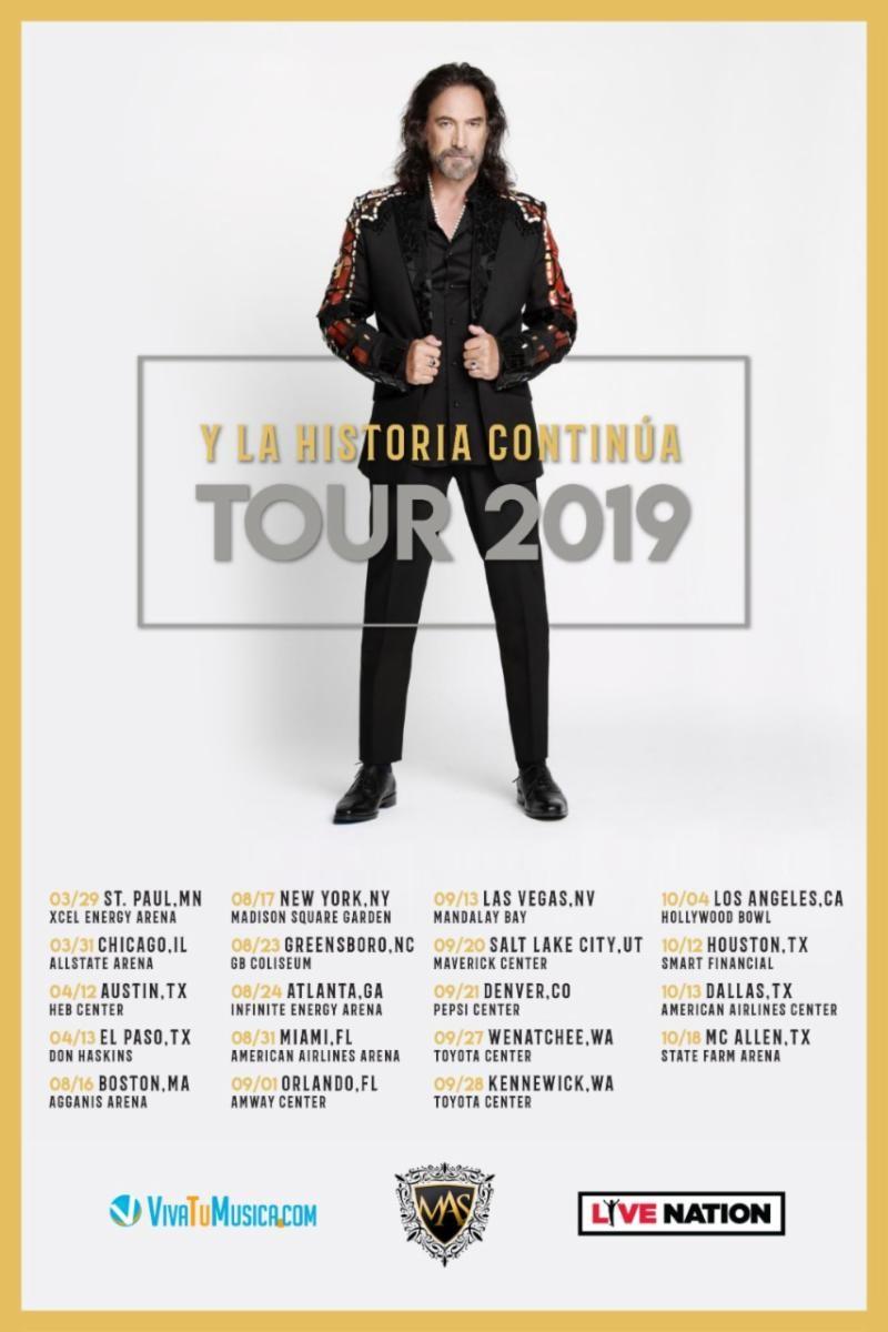 Marco Antonio Solís anuncia fechas para su gira 'Y la Historia Continúa' en el 2019
