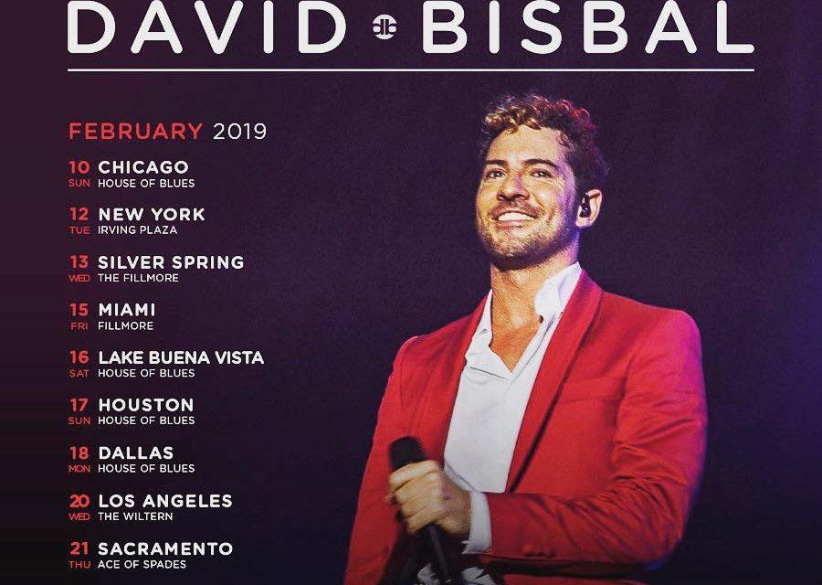 David Bisbal anuncia tour por Estados Unidos en 2019