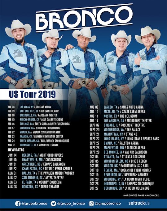 Bronco anuncia nuevas fechas de su esperada gira 'Por Más US Tour'
