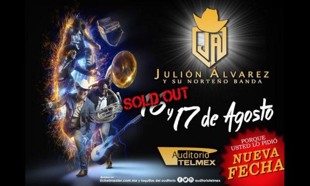 Julión Álvarez y su Norteño Banda logran Sold Out para el auditorio Telmex y abren segunda fecha