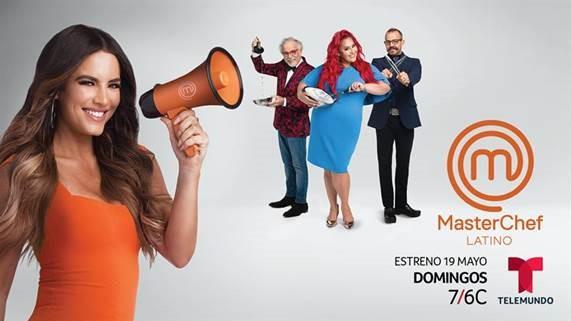 Gaby Espino conductora de MasterChef Latino – 19 de mayo por Telemundo