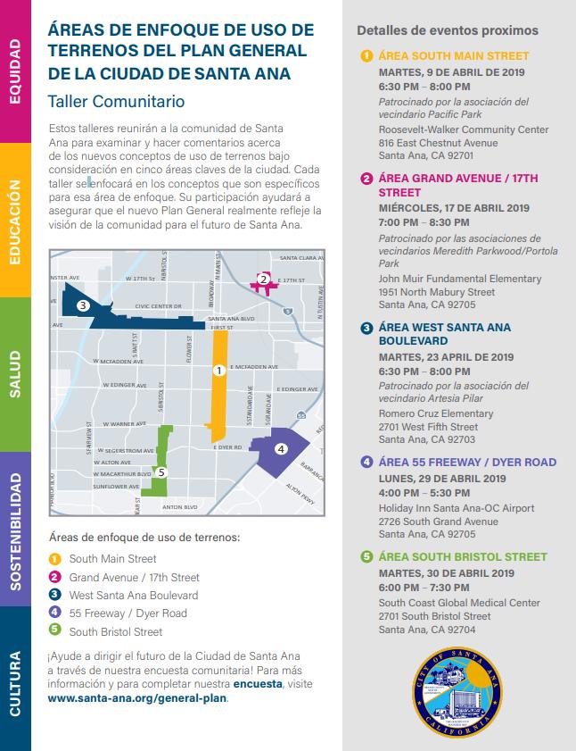 Ayude a Planificar el Futuro de la Ciudad de Santa Ana
