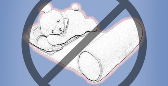 No use los posicionadores para dormir bebés debido al riesgo de asfixia que presentan