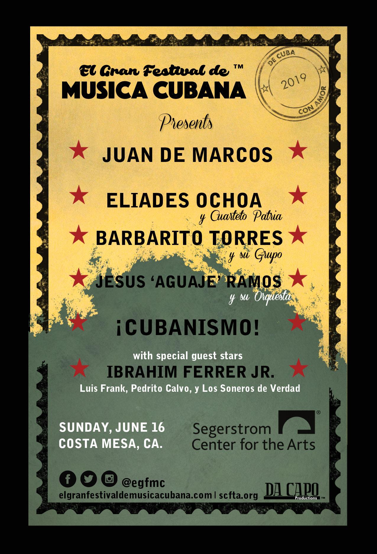 Segerstrom Center for the Arts presenta El Gran Festival de Musica Cubana