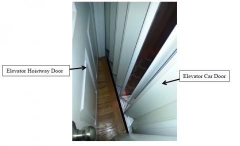 Proteja a los niños contra un espacio mortal entre las puertas de los elevadores residenciales