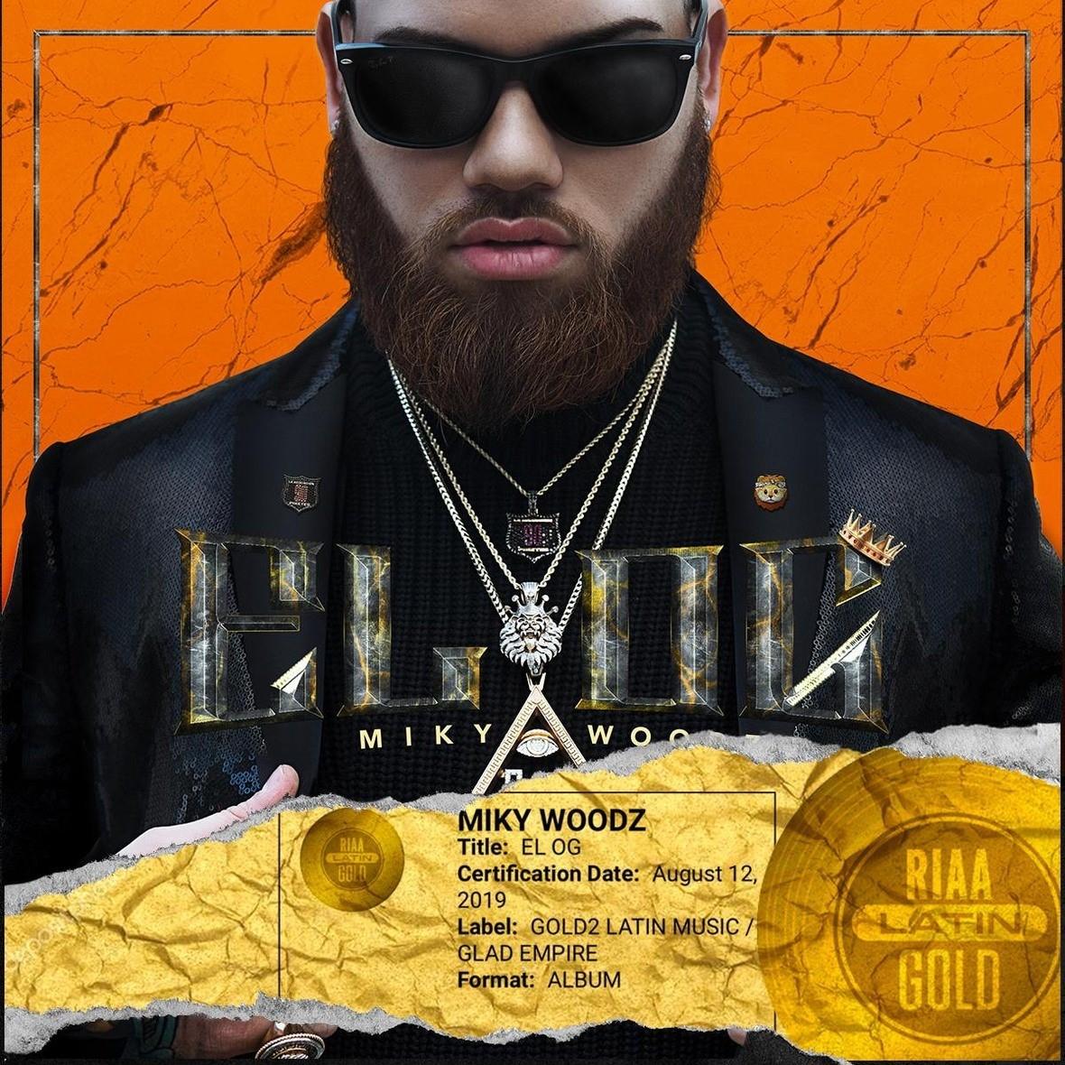 Miky Woodz, se alza con una certificación de Disco de Oro otorgada por la RIAA