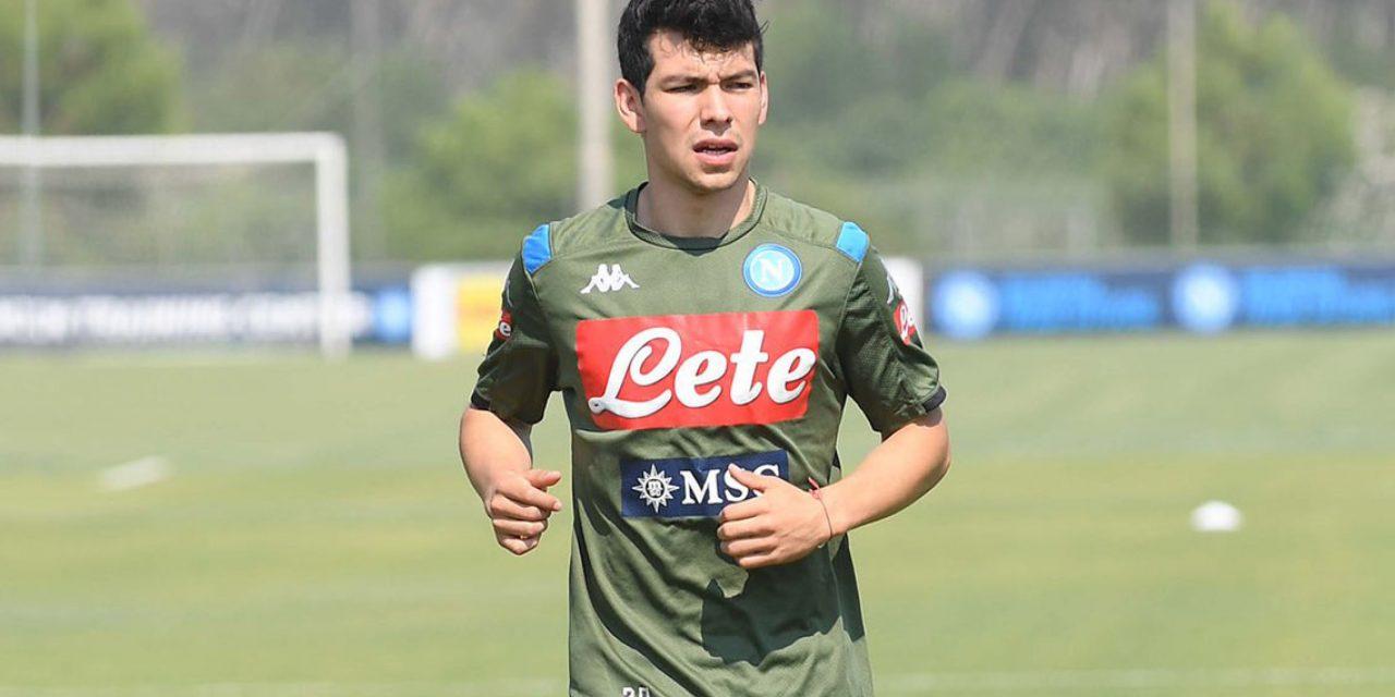 'Chucky' Lozano tiene su primer entrenamiento con el Napoli