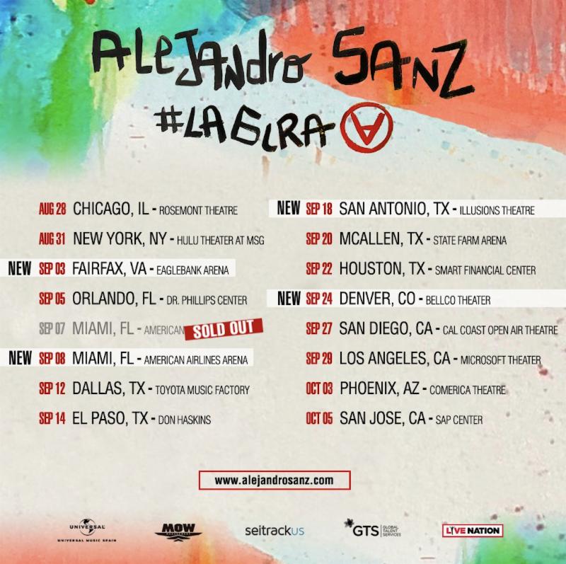 Gran éxito de Alejandro Sanz en sus dos conciertos en el American Airlines Arena de Miami