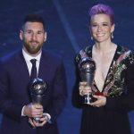 Messi y Rapinoe, reconocidos con el premio The Best
