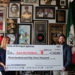 El artista global y ganador del GRAMMY® Enrique Iglesias homenajea a sus fans por ayudar a contribuir más de $350,000 para Save the Children