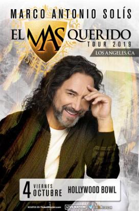Marco Antonio Solís en el icónico Hollywood Bowl