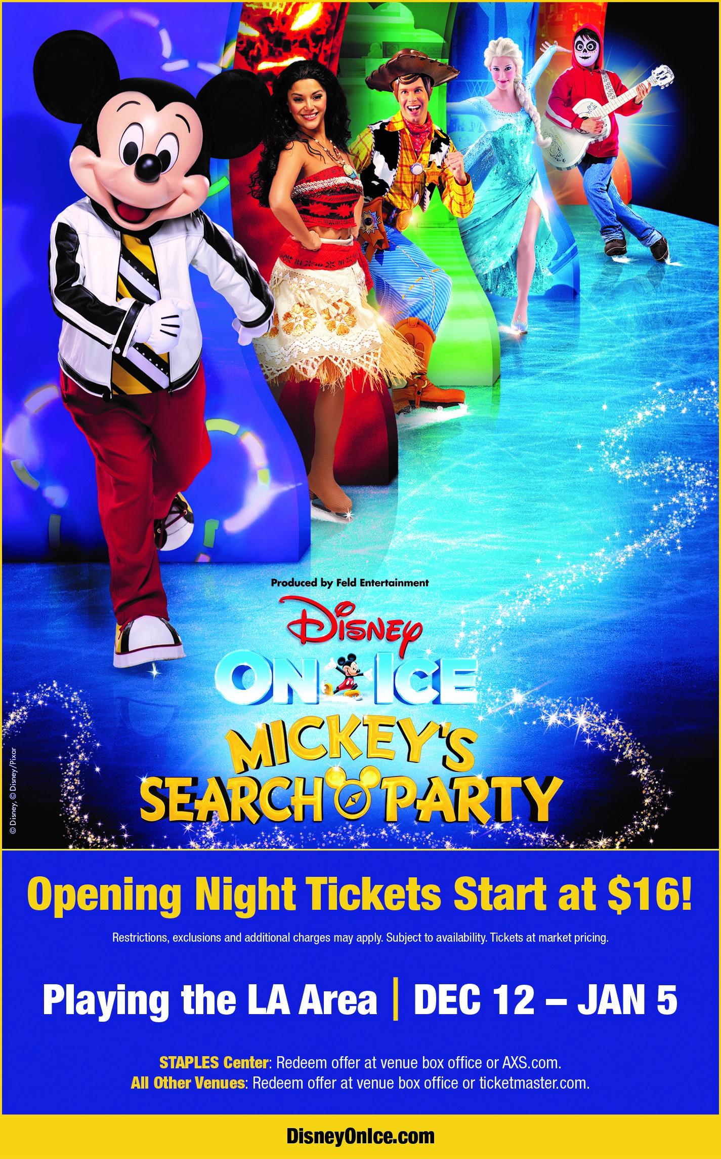 ¡Disney On Ice presenta Mickey's Search Party llegará a SoCal para acercar la magia a los fanáticos más que nunca!