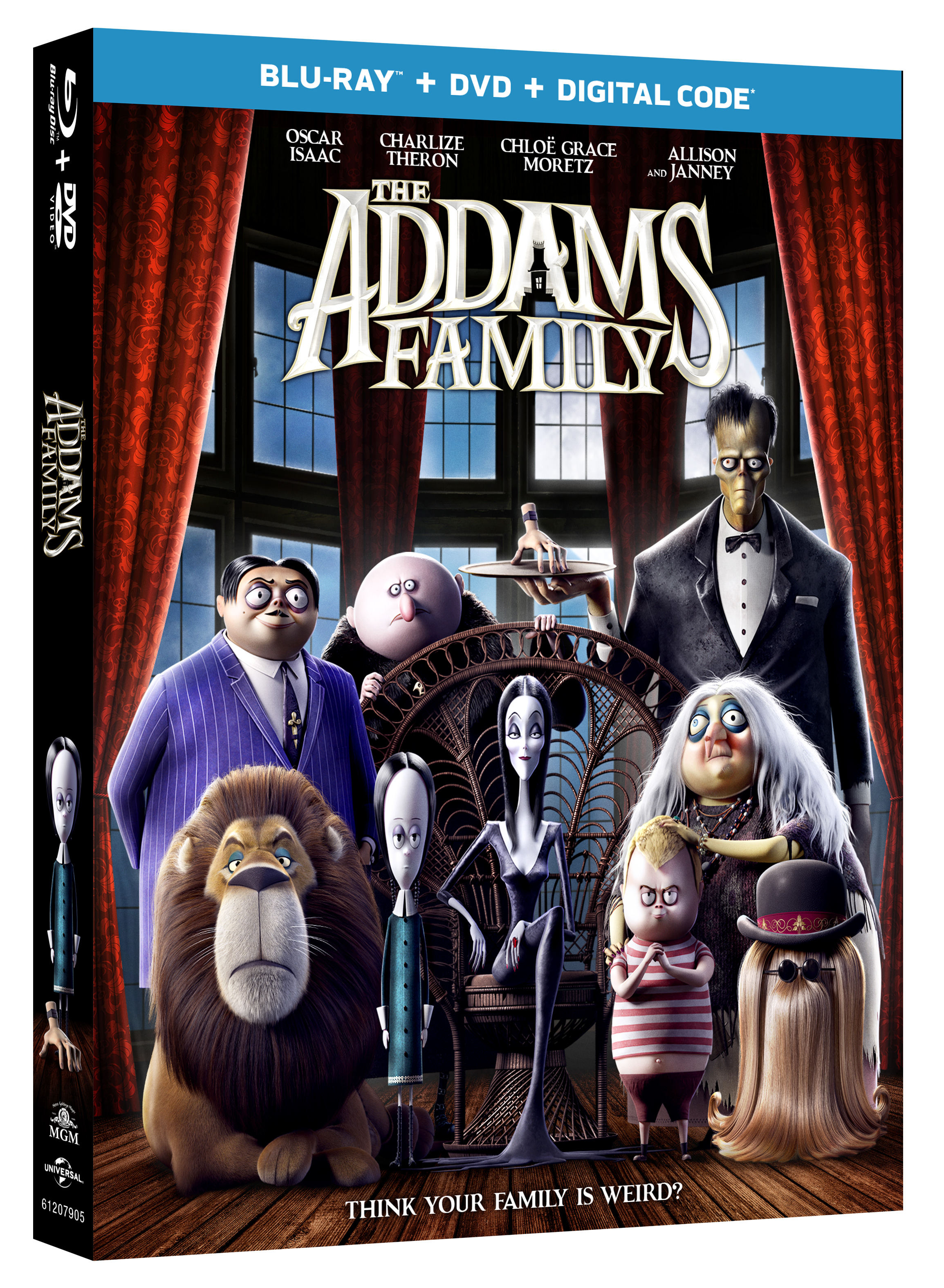 La Película Animada de la Familia Addams en Blu-ray, DVD, Digital y On Demand