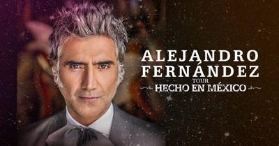 Alejandro Fernández Anuncia las Fechas de su Gira Mundial 'HECHO EN MÉXICO' en Estados Unidos, Canadá y Europa