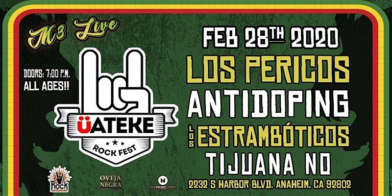Los Estrambóticos en vivo en el ÜATEKE ROCK FEST 2020