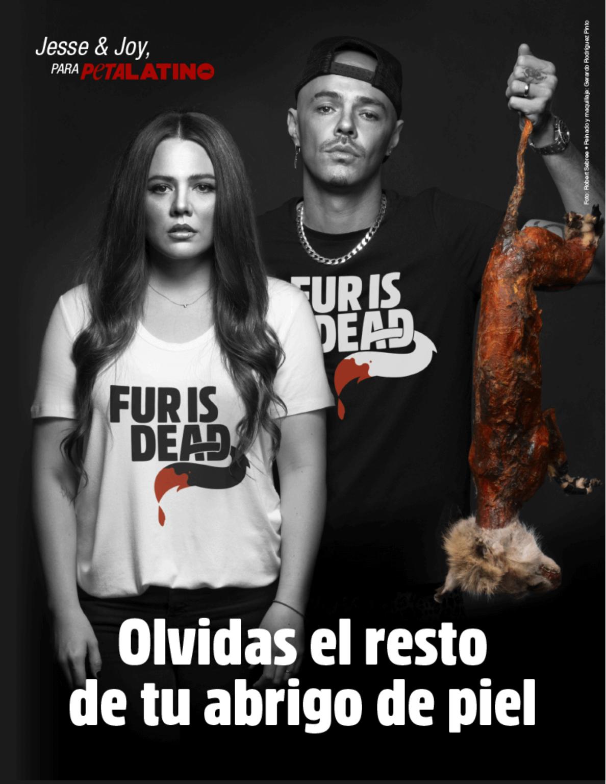 Jesse y Joy piden en nueva campaña para PETA dejar de usar pieles