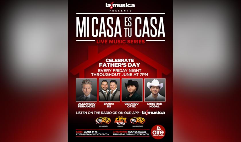 SBS Entertainment celebra el Día del Padre con una edición especial de la serie de música en vivo «Mi Casa Es Tu Casa»
