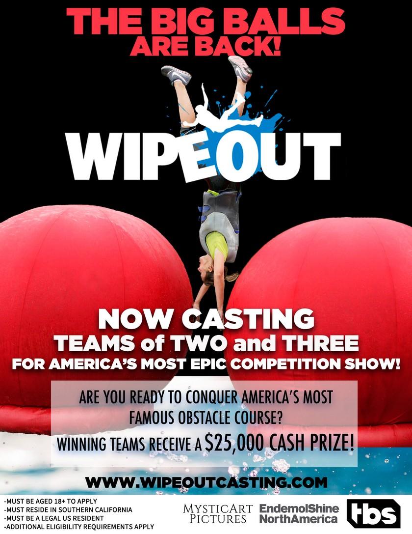 WIPEOUT Audiciones abiertas para el sur de California