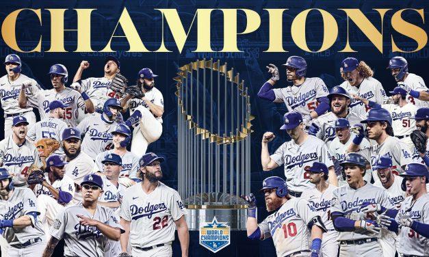 Dodgers gana la Serie Mundial; vence 3-1 a Rays