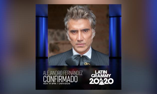 Alejandro Fernández lidera una vez más la radio en Estados Unidos y anuncia su participación en los Latin Grammy 2020