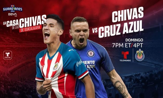 Chivas de Guadalajara Vs Cruz Azul este domingo en Exclusiva por Telemundo