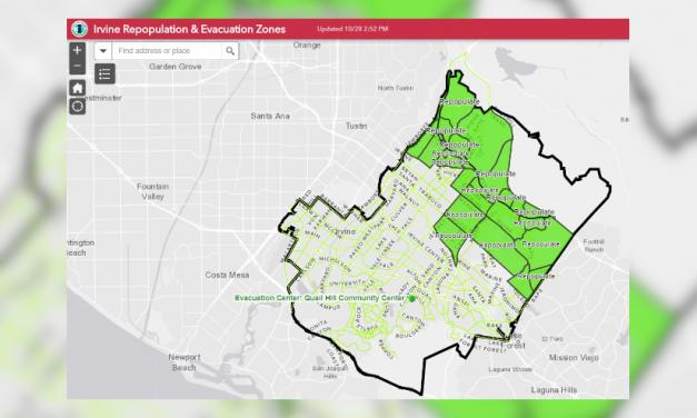 Evacuaciones obligatorias levantadas para toda la ciudad de Irvine