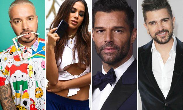 Ricky Martin, J Balvin, Anitta y Juanes, son convocados al Latin Grammy