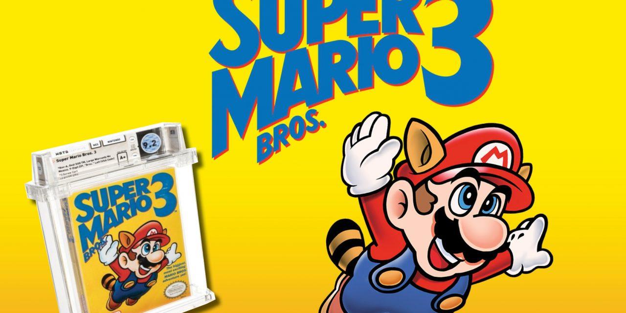 Venden copia de Super Mario Bros 3, por 156 mil dólares