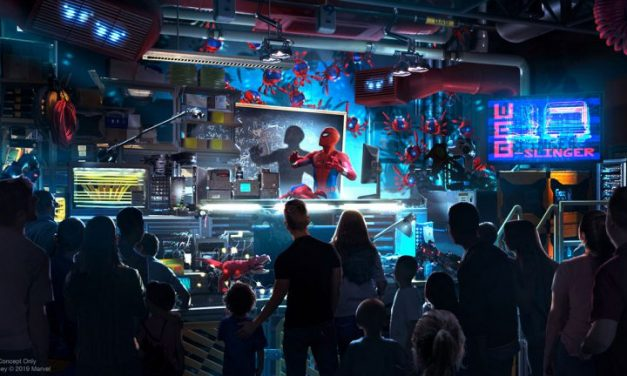Primer vistazo al actor Tom Holland como Peter Parker en WEB SLINGERS: A Spider-Man Adventure llegando al Avengers Campus en Disneyland Resort