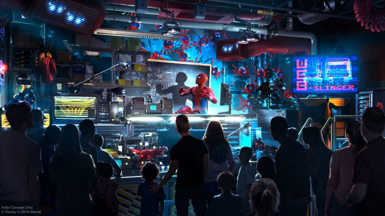 Primer vistazo al actor Tom Holland como Peter Parker en WEB SLINGERS: A Spider-Man Adventure llegando al Avengers Campus en Disneyland Resort