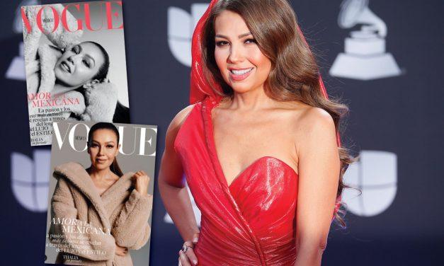 Thalía cumple sueño de ser portada en Vogue