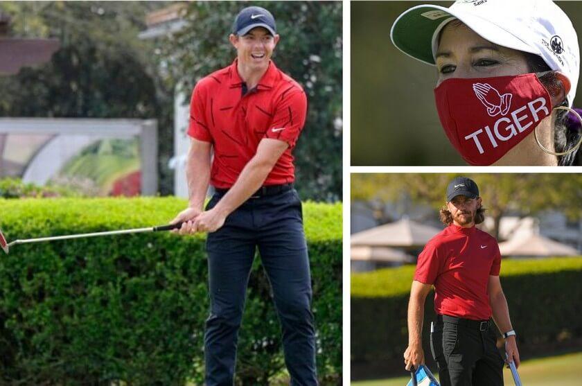 Golfistas rindieron homenaje a Tiger Woods