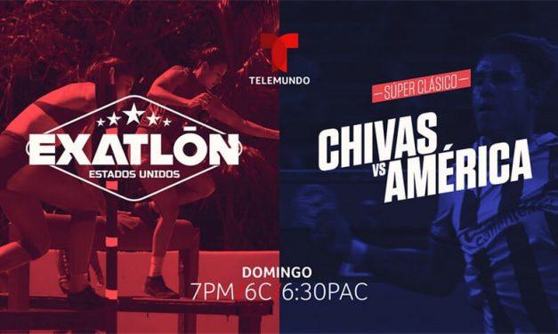 Telemundo presenta súper domingo de clásicos encabezado por Chivas vs. América de la liga mx y exatlón Estados Unidos