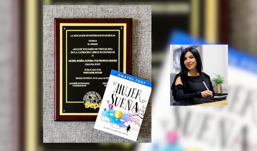 Omayra Font gana Premio SEPA por el libro Mujer, sueña