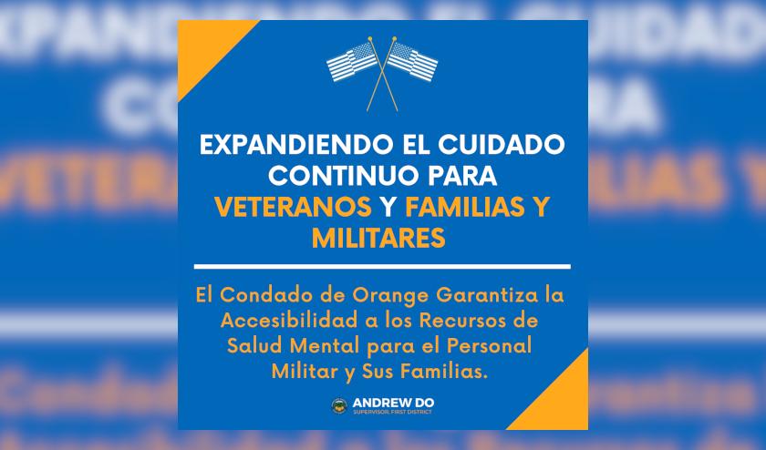 Salud Mental: El Condado de Orange Garantiza la Accesibilidad a los Recursos de Salud Mental para el Personal Militar y sus Familias