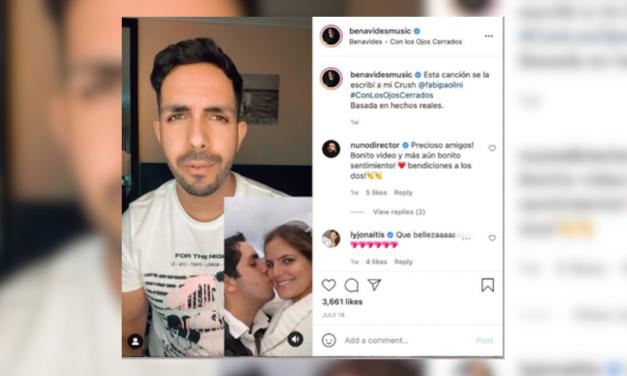 Benavides enamora a sus fanáticos con video en las redes sociales de su propia historia de amor