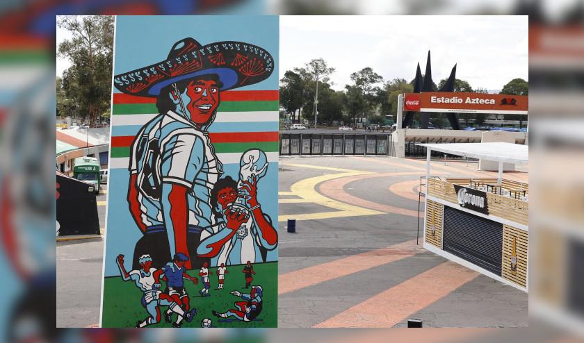 Estadio Azteca levanta monumento en honor a Diego Maradona en México 86