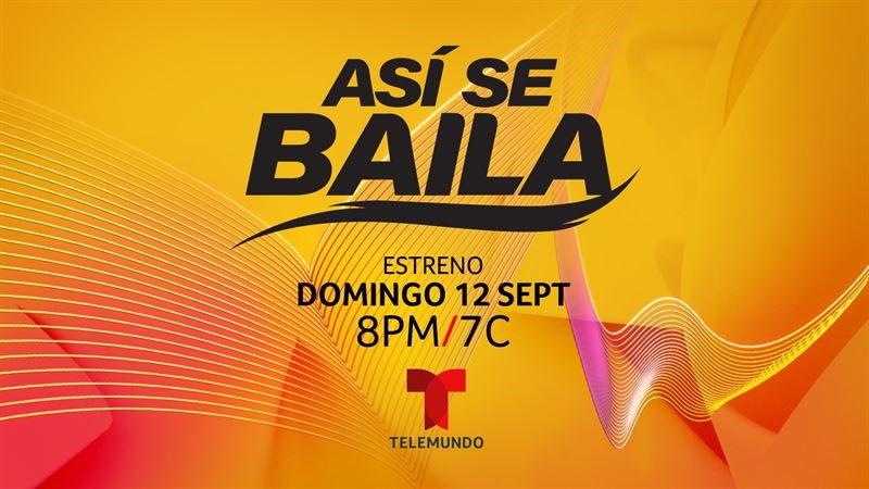 Telemundo prepara el escenario para el gran estreno de 'Asi se baila', la nueva competencia de baile que inicia el domingo, 12 de septiembre a las 8pm/7c