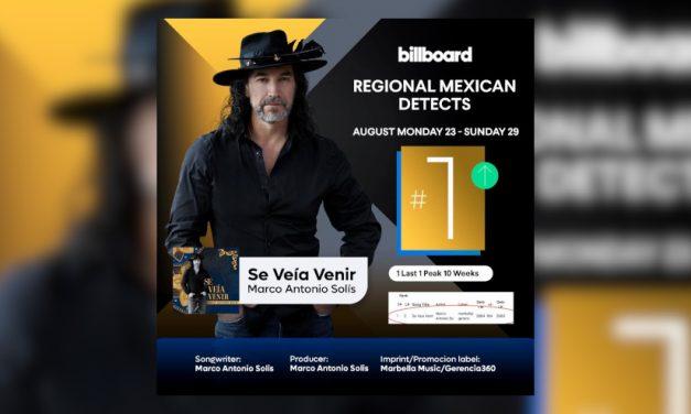 MARCO ANTONIO SOLÍS conquista una vez más el #1 lugar con «SE VEÍA VENIR»