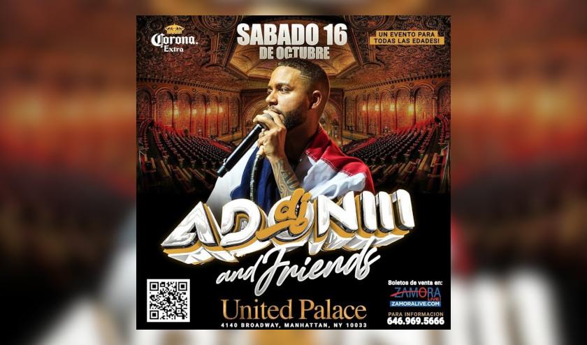 Dj Adoni anuncia concierto histórico el 16 de octubre en el United Palace