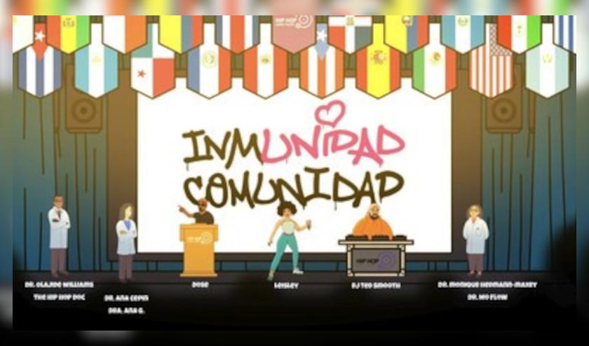 Hip Hop Public Health continúa la lucha en contra del COVID-19, sus variantes y la desinformación a través de la campaña «Inmunidad Comunidad»